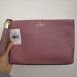 Kate Spade Shala Clutch Leather Handbag